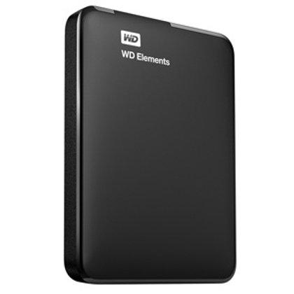 Disco Duro Externo Western Digital WD Elements Portátil 2.5'', 2TB, USB 3.0, Neg