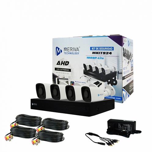 Meriva Technology Kit de Vigilancia MKIT924LITE de 4 Cámaras Bullet MSC-206 1080