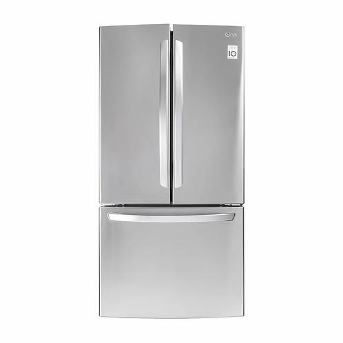 Refrigerador LG 22 pies cubicos acero GF22BGSK