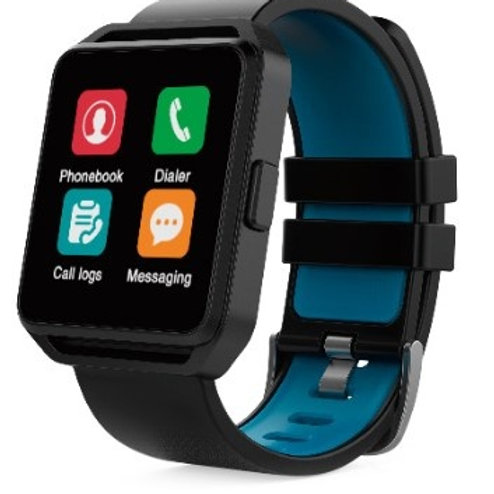 Ghia Smartwatch GAC-109, Touch, Bluetooth 4.0, Android 7.1/iOS 9.3, Negro