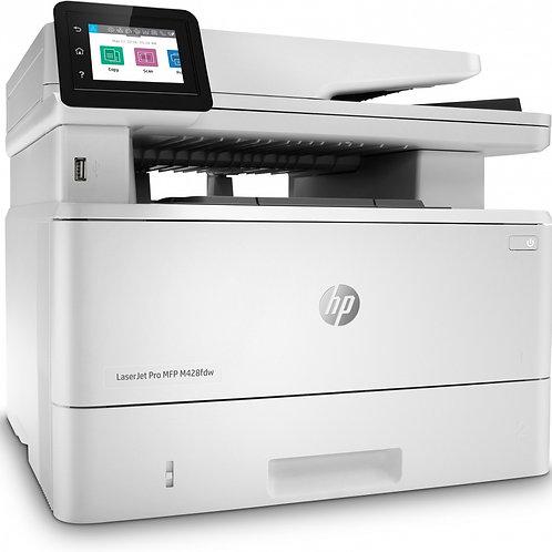 Multifuncional HP LaserJet Pro M428fdw, Blanco y Negro, Láser, Inalámbrico