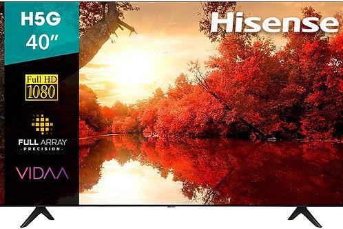 "Hisense 40H5G Smart TV 40"" FULL HD, 1080p, Built-in Wi-Fi, 2020, Color Negro"