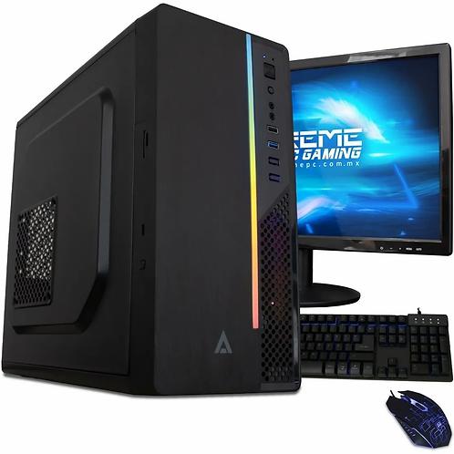 Computadora Xtreme PC Gamer AMD Radeon R5 A10 9630E 8GB SSD 240GB Monitor, WiFi