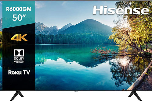 "Hisense 50R6000GM Serie R6 50"" 4K Uhd, Smart TV, Roku TV, Hdr10, Roku"