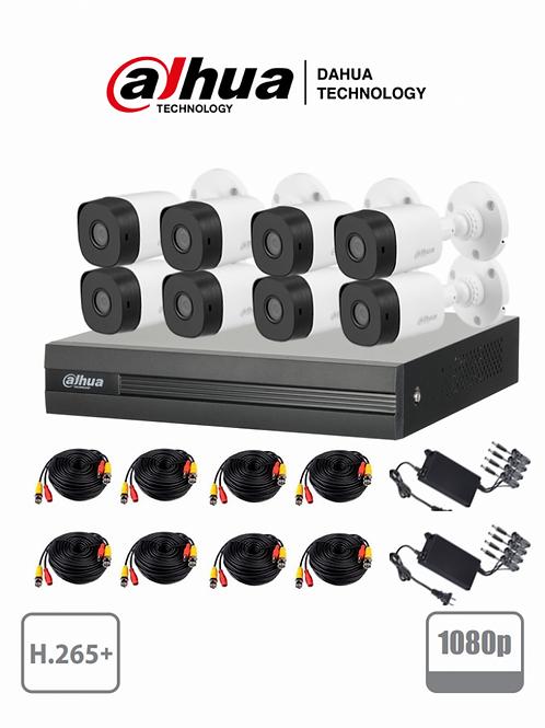 Dahua Kit de Vigilancia Cooper XVR1B08KIT de 8 Cámaras CCTV Bullet y 8 Canales,