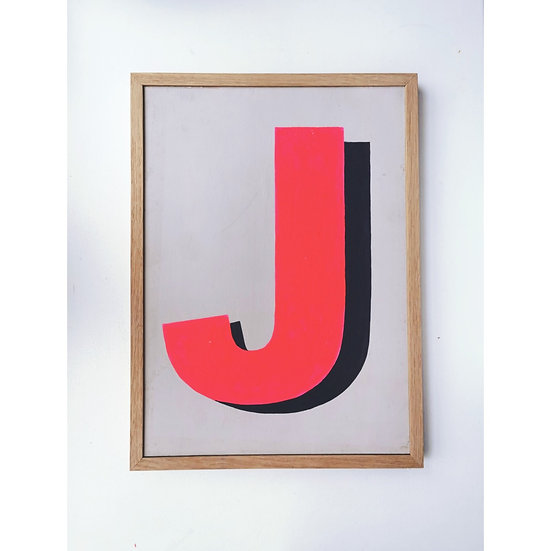 Single Letter Wooden Sign