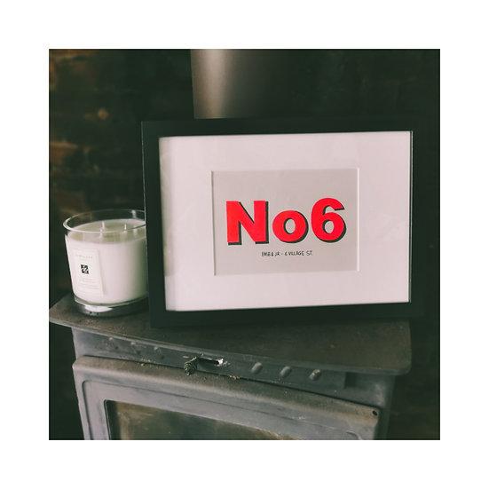 A4 House No. Print