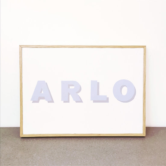 NAME Wooden Sign