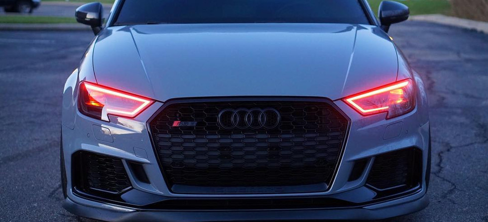 Audi RS3 Sporting Our Custom-Built Headlights With RGBW DRL