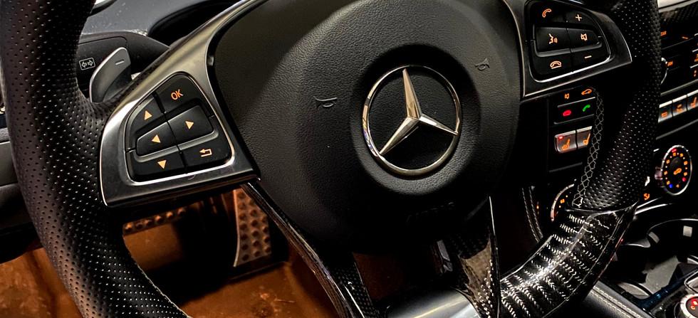 Mercedes CLS63 AMG After New Digital Steering Wheel Installation