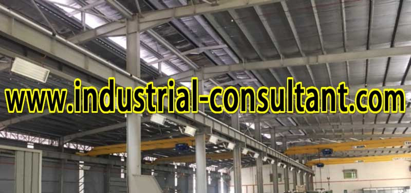 senai factory with 4 overhead crane