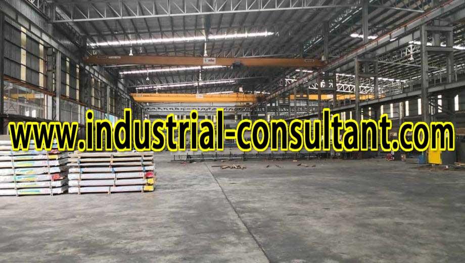 johor bahru factory with 16ton overhead crane