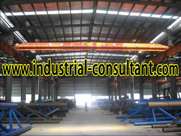senai factory with 6 overhead crane