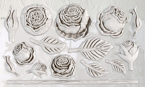 Heirloom Roses Mould 6x10