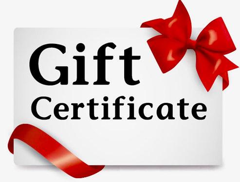 GDR Gift Certificate