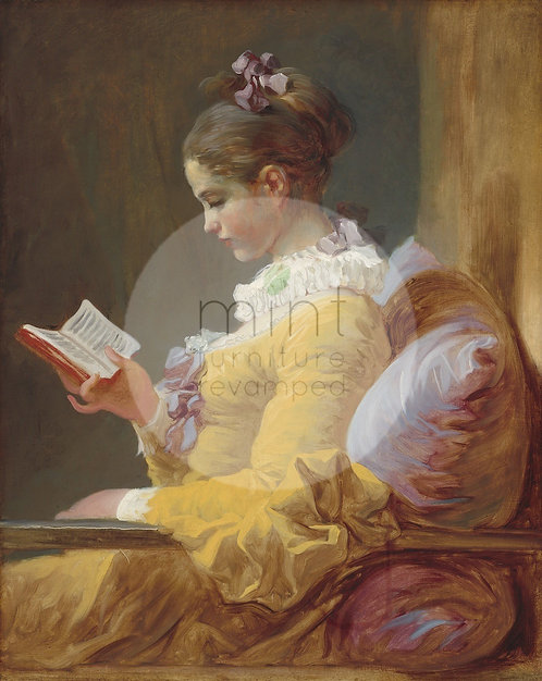 Young girl reading A-3  24x33