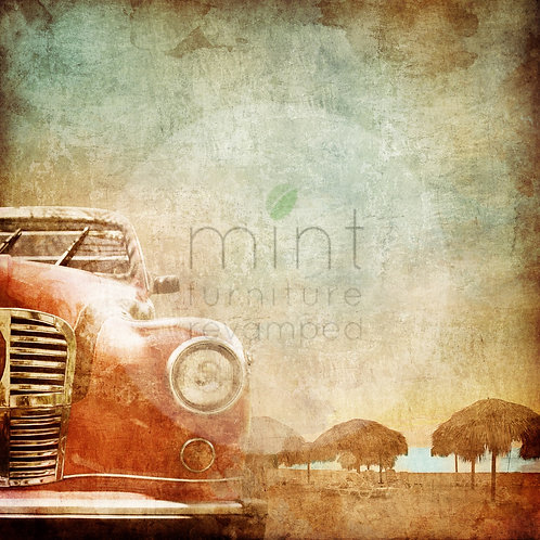 Vintage Old Car A-1  22x33