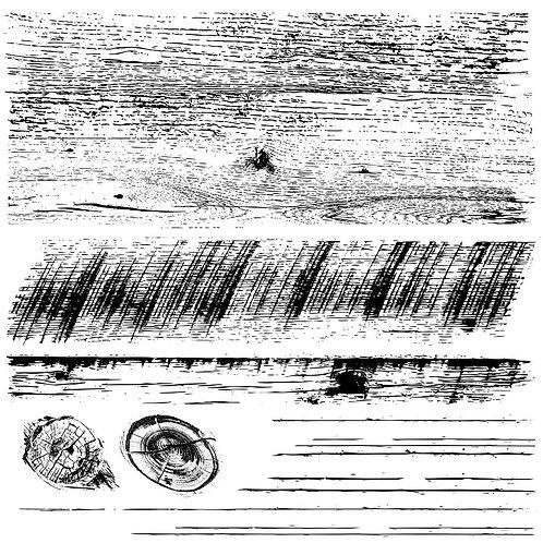 Barnwood Planks Decor Stamps ( Set of 2) 12 x 12