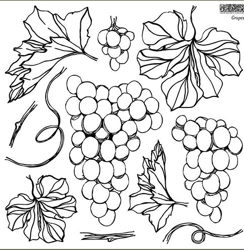"IOD Grapes 12""x12"" Stamp"