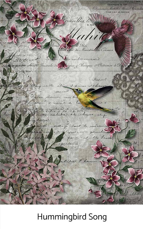 Queen Decoupage Hummingbird Song XL