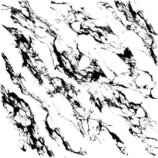 Carrara Marble Decor Stamp 12 x 12