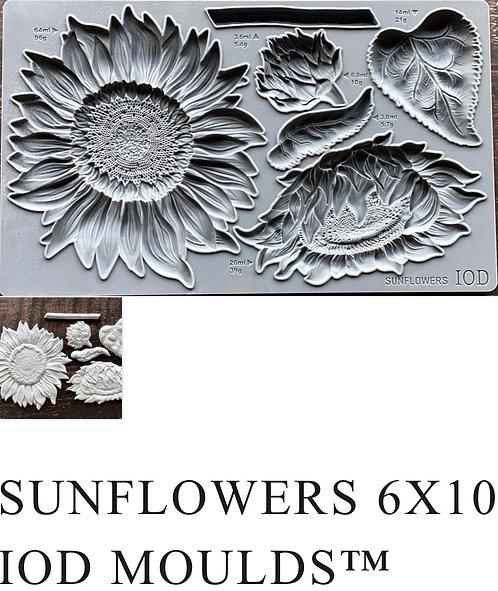 "IOD Sunflower Mould 6"" x 10"""