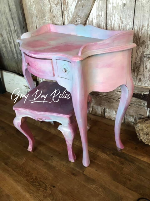 Pink Makeup Table