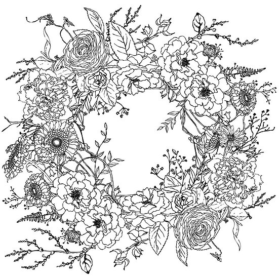 Winter's Song Wreath (Paintable)