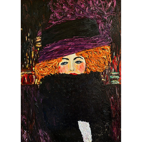 Purple Hat 24x33