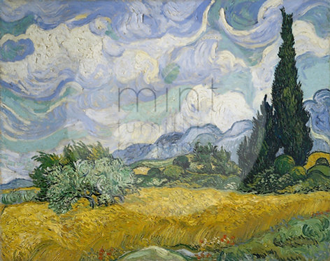 Wheatfield with Cypresses A-3 11x17
