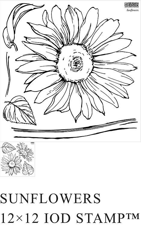 """IOD Sunflower Stamp 12""""x 12"""""""
