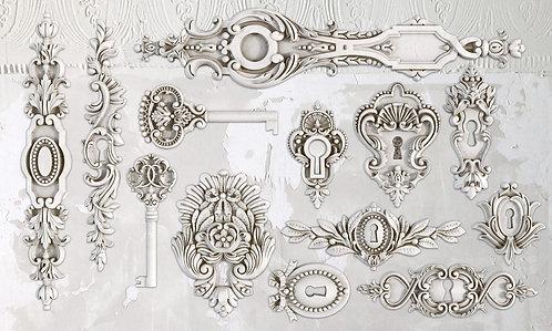 Lock & Key Mould 6x10