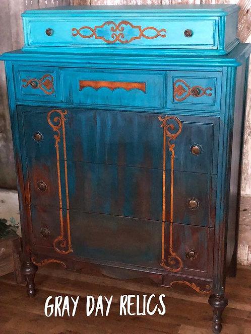 Brown & Blue Dresser