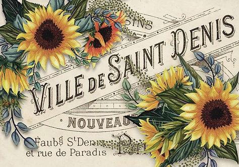 Sunflowers Ville de St. Denis A4