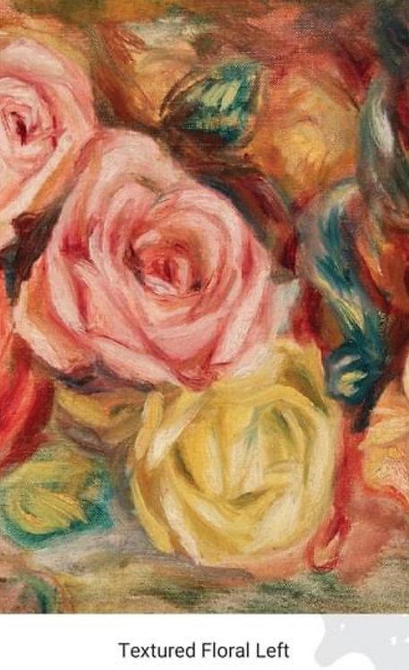Textured Floral Left