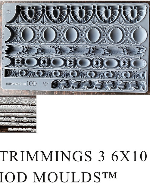 """IOD Trimmings 3 Mould 6"""" x 10"""""""
