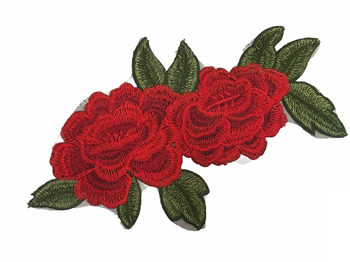 Patch Rose rouge double XL