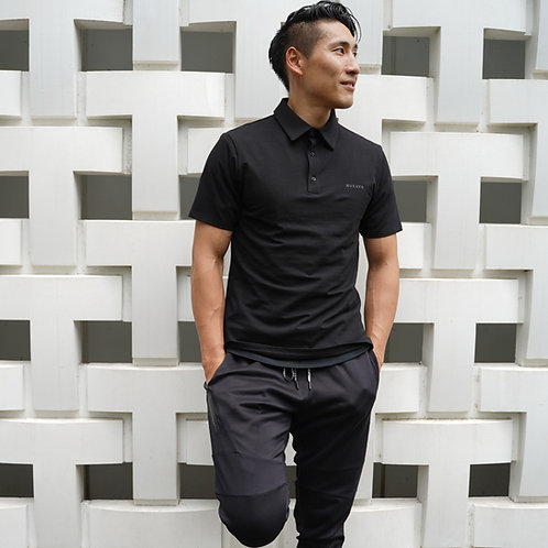 Muscle Fit Polo( Black )