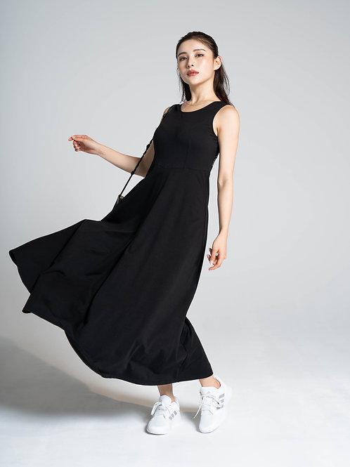 Cotton Dress( Black )
