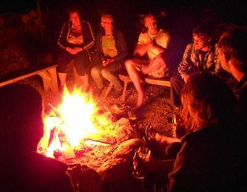 Outdoor fireplace on sedliacky dvor