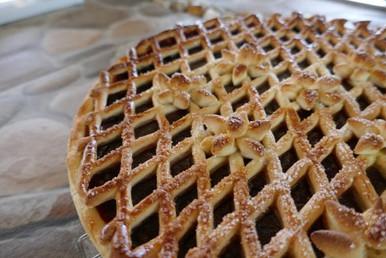 Dutch vlaai pastry