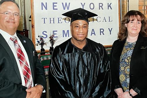 L to R: Superintendent Michael Capra, Patrick Stephens, Deputy Superintendent of Programs Leslie Malin