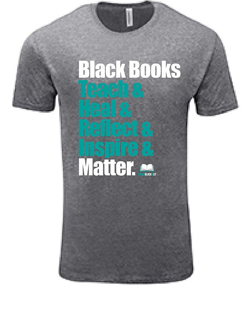 Grey Books Matter T-Shirt