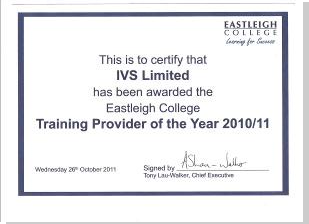 Cert from Eastleigh