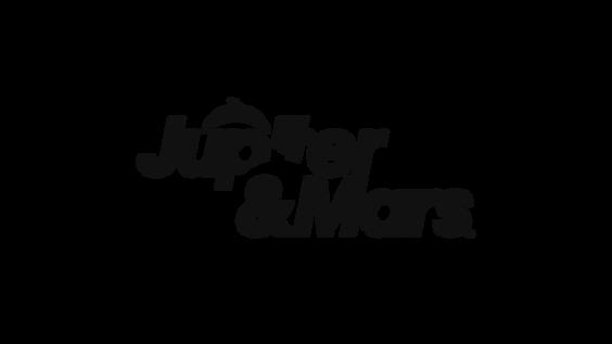 Jupiter and Mars logo transparent backgr