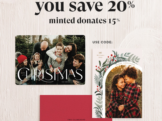 Shop Minted this Christmas and Support St. Aloysius School!