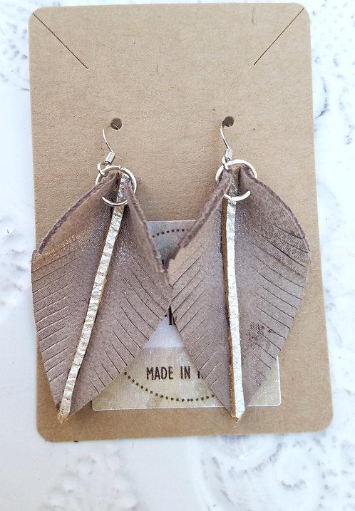 Metallic Leaf Earrings