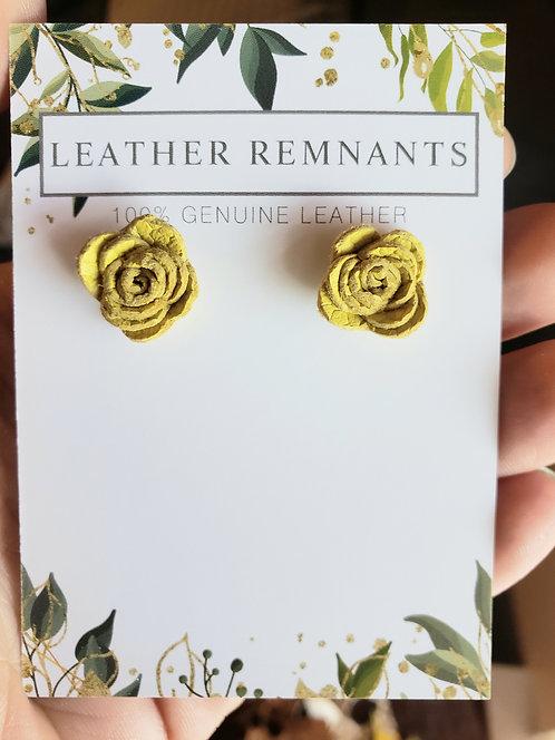 Yellow Rose Stud Earring