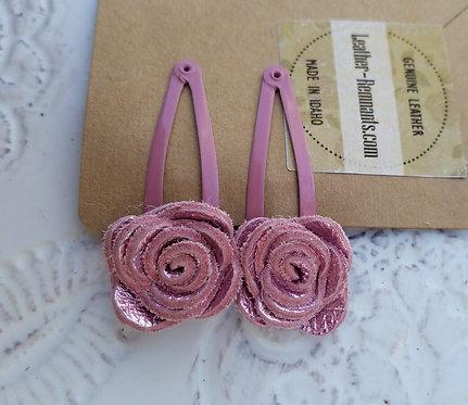 Light Pink Metallic Hair Clips