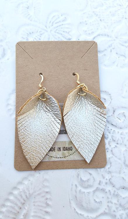 Light Gold Leaf Earring
